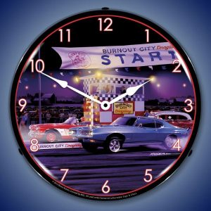Bruce Kaiser Drag City LED Lighted Wall Clock
