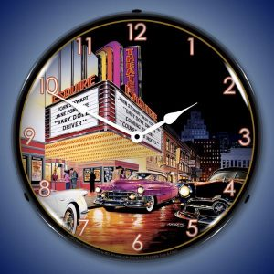 Bruce Kaiser Esquire Theater LED Lighted Wall Clock
