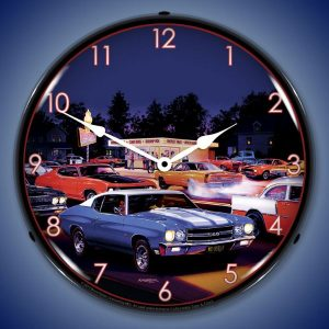 Bruce Kaiser Fast Freds LED Lighted Wall Clock