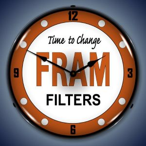 Fram Filters LED Lighted Wall Clock