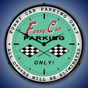 Funny Car Parking LED Lighted Wall Clock