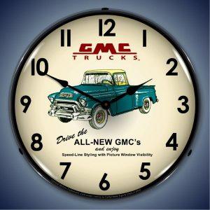 GMC Trucks 1956 LED Lighted Wall Clock
