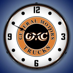 GMC Trucks Vintage Style LED Lighted Wall Clock