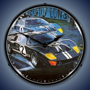 Ford GT-40 LED Lighted Wall Clock