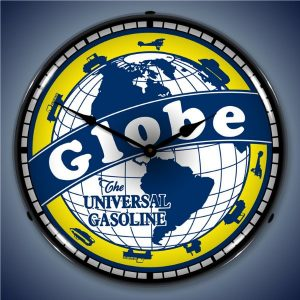 Globe Gasoline LED Lighted Wall Clock