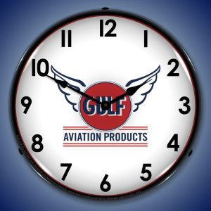 Gulf Avaition LED Lighted Wall Clock