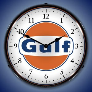 Gulf LED Lighted Wall Clock