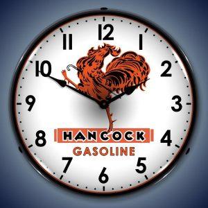 Hancock Gasoline LED Lighted Wall Clock