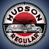 Hudson Gas LED Lighted Wall Clock