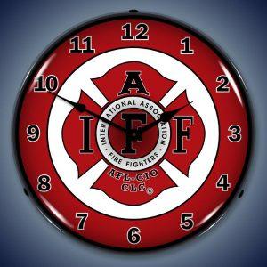 IAFF International Association Of Firefighters LED Lighted Wall Clock