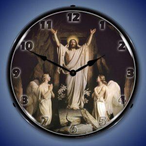 Jesus The Resurrection LED Lighted Wall Clock