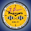 Dragster Parking LED Lighted Wall Clock