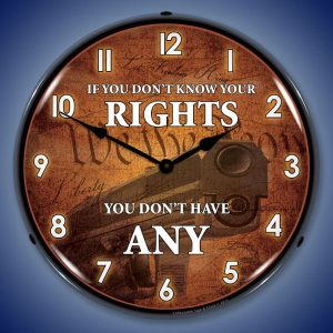 Know Your Rights LED Lighted Wall Clock
