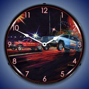 Bruce Kaiser Lift Off LED Lighted Wall Clock