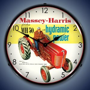 Massey Harris Tractors LED Lighted Wall Clock