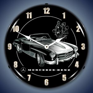 Mercedes Benz LED Lighted Wall Clock