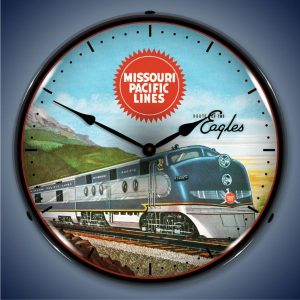 Missouri Pacific Lines LED Lighted Wall Clock