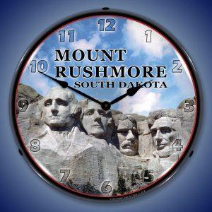 Mount Rushmore South Dakota LED Lighted Wall Clock