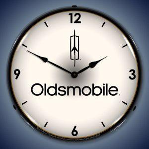 Oldsmobile LED Lighted Wall Clock