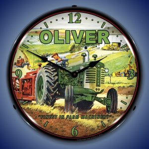 Oliver Tractor LED Lighted Wall Clock