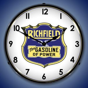Richfield Gasoline LED Lighted Wall Clock