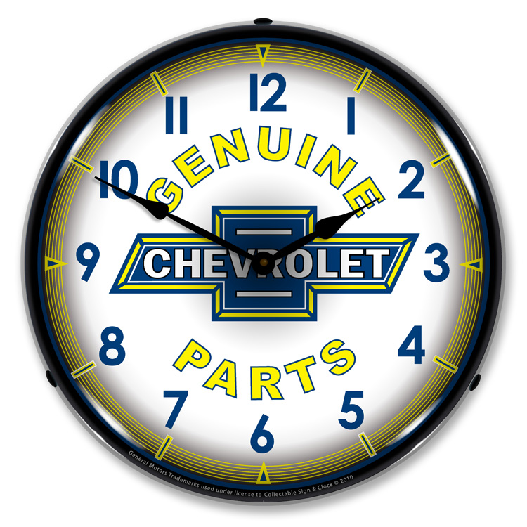 Chevrolet Genuine Parts Led Lighted Wall Clock Lighted Wall Clocks
